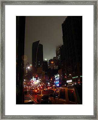 8th Ave Before New York Times Building Framed Print