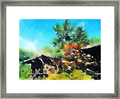 8th Century Sutra Storehouses At Toshodai-ji In Nara Framed Print by Beverly Claire Kaiya