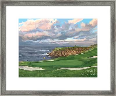 8th Hole Pebble Beach Framed Print
