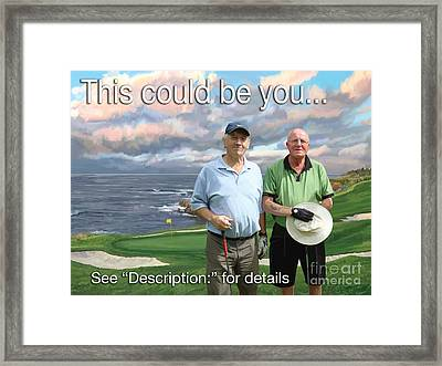 Framed Print featuring the painting 8th Hole Pebble Beach by Tim Gilliland