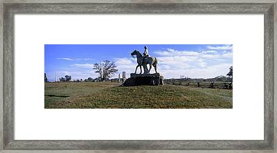 8th Pennsylvania Cavalry Monument Framed Print