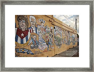 8th St Miami Art Wall Framed Print by Eyzen M Kim