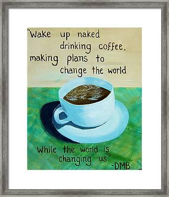 8x10 Dmb Coffee Art Framed Print