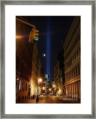 9-11-2013 Nyc Framed Print by Jean luc Comperat