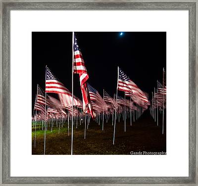 9-11 Flags Framed Print by Gandz Photography