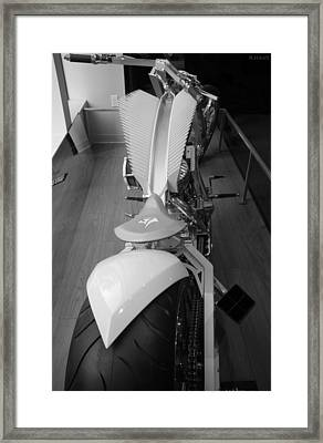 9/11 Memorial Bike In Black And White Framed Print by Rob Hans
