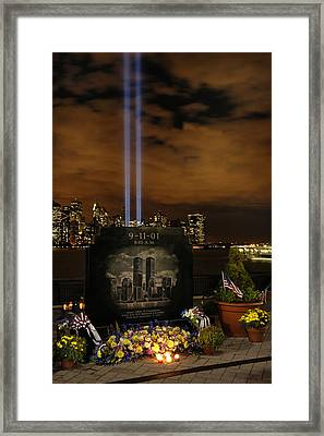 9-11 Monument Framed Print