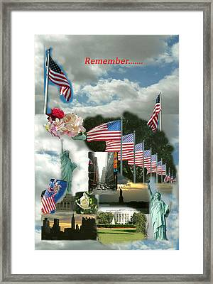 9-11 Remembrance Framed Print