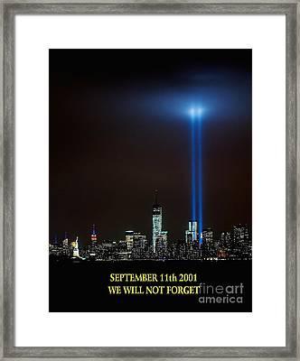 9/11 Tribute Framed Print by Nick Zelinsky