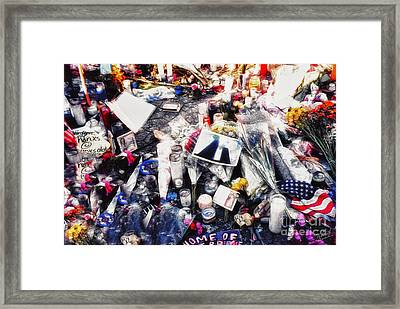 9-11 Wtc  Framed Print by Nishanth Gopinathan