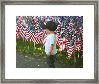 9 /11s New Generation Framed Print by Bruce Carpenter