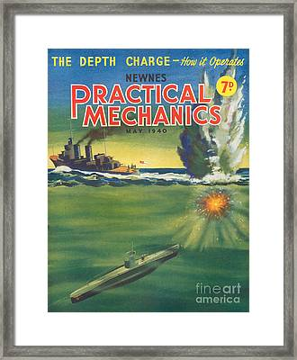 1940s Uk Practical Mechanics Magazine Framed Print by The Advertising Archives