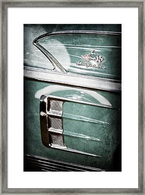 1958 Chevrolet Impala Emblem Framed Print