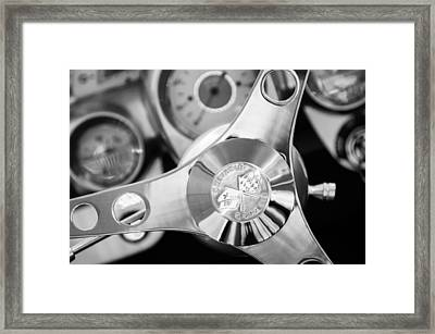 1960 Chevrolet Corvette Steering Wheel Emblem Framed Print