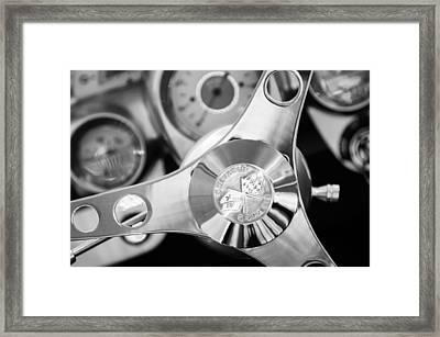 1960 Chevrolet Corvette Steering Wheel Emblem Framed Print by Jill Reger