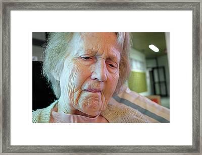 Alzheimer's Patient Framed Print