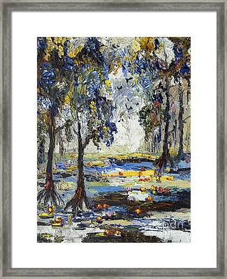 9 Am In The Okefenokee Georgia Framed Print by Ginette Callaway