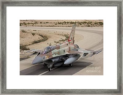 An F-16i Sufa Of The Israeli Air Force Framed Print