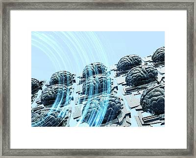 Artificial Intelligence Framed Print by Victor Habbick Visions/science Photo Library