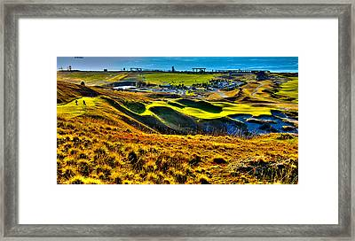 #9 At Chambers Bay Golf Course - Location Of The 2015 U.s. Open Tournament Framed Print