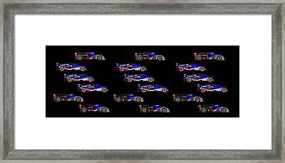 9 Audis And 9 Peugeots Framed Print by Asbjorn Lonvig