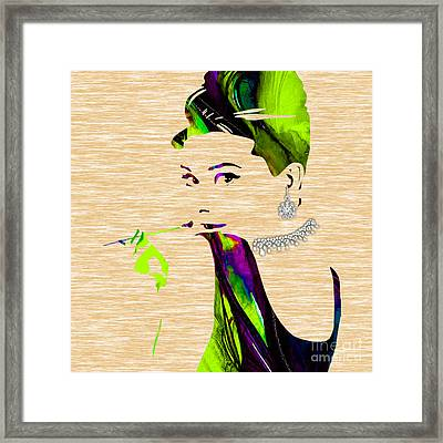 Audrey Hepburn Diamond Collection Framed Print