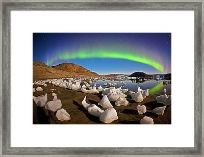 Auroral Display Framed Print by Juan Carlos Casado (starryearth.com)