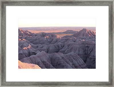Badlands N P 8 Framed Print
