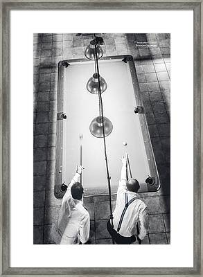 Framed Print featuring the photograph 9 Ball Lag by Stwayne Keubrick