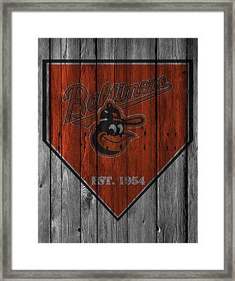 Baltimore Orioles Framed Print by Joe Hamilton