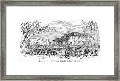 Battle Of Concord, 1775 Framed Print by Granger