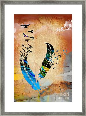 Birds Of A Feather Framed Print by Marvin Blaine