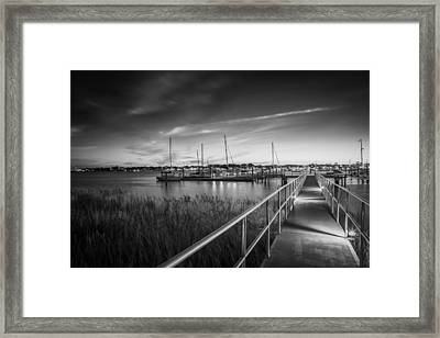 Bridge Of Lions St Augustine Florida Painted Bw Framed Print by Rich Franco