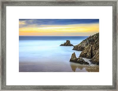 Campelo Beach Galicia Spain Framed Print
