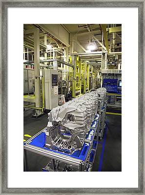 Car Transmission Assembly Line Framed Print
