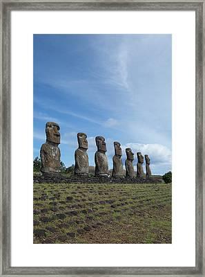 Chile, Easter Island Aka Rapa Nui Framed Print