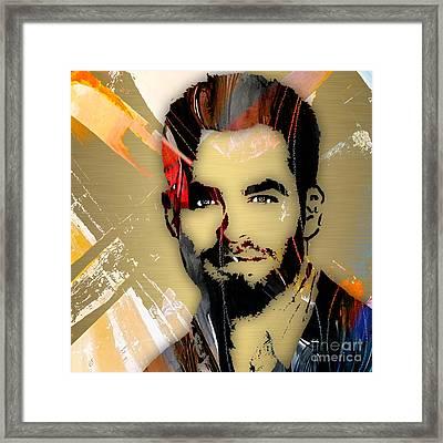 Chris Pine Collection Framed Print