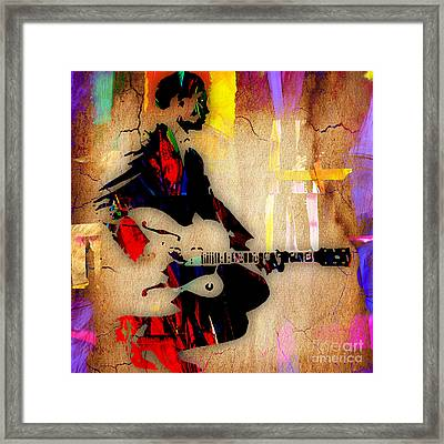 Chuck Berry Collection Framed Print by Marvin Blaine