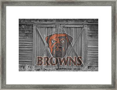 Cleveland Browns Framed Print by Joe Hamilton