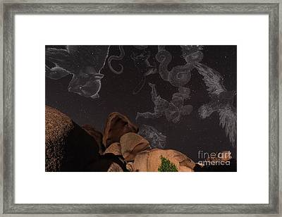 Constellations In A Night Sky Framed Print by Laurent Laveder