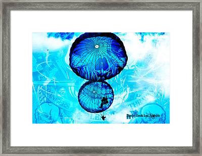 Dcla Designed Skull Gruntscape Framed Print by David Cook  Los Angeles Prints