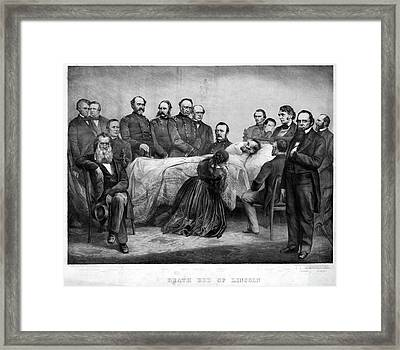 Death Of Lincoln, 1865 Framed Print