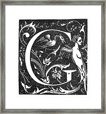 Decorative Initial G Framed Print by Granger