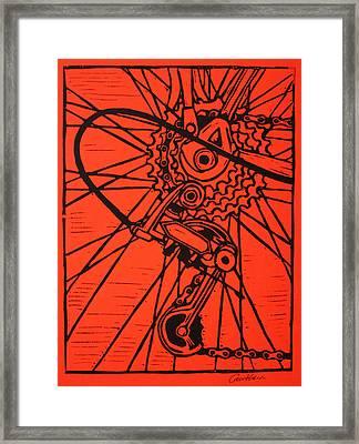 Derailluer Framed Print by William Cauthern