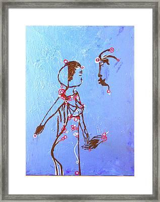 Dinka Embrace Framed Print