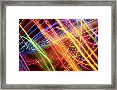 Energy Lines Framed Print