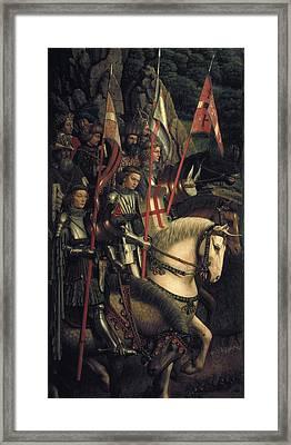 Eyck, Jan Van 1390-1441 Eyck, Hubert Framed Print by Everett