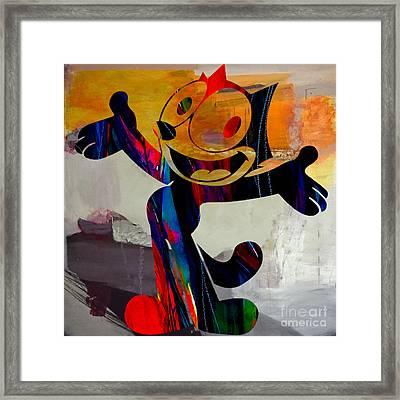 Felix The Cat Framed Print by Marvin Blaine