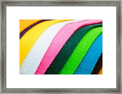 Felt Framed Print by Tom Gowanlock
