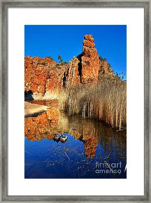 Glen Helen Gorge Framed Print by Bill  Robinson
